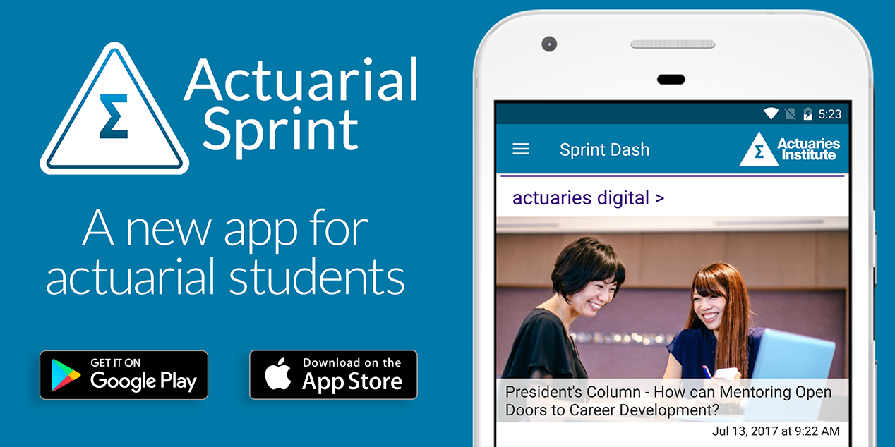 Actuarial Sprint – now available on the App Store and Google Play