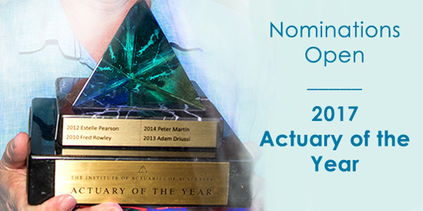 Nominations for Actuary of the year 2017 are now open
